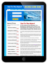 Taxi Cab website Template Design for iPad